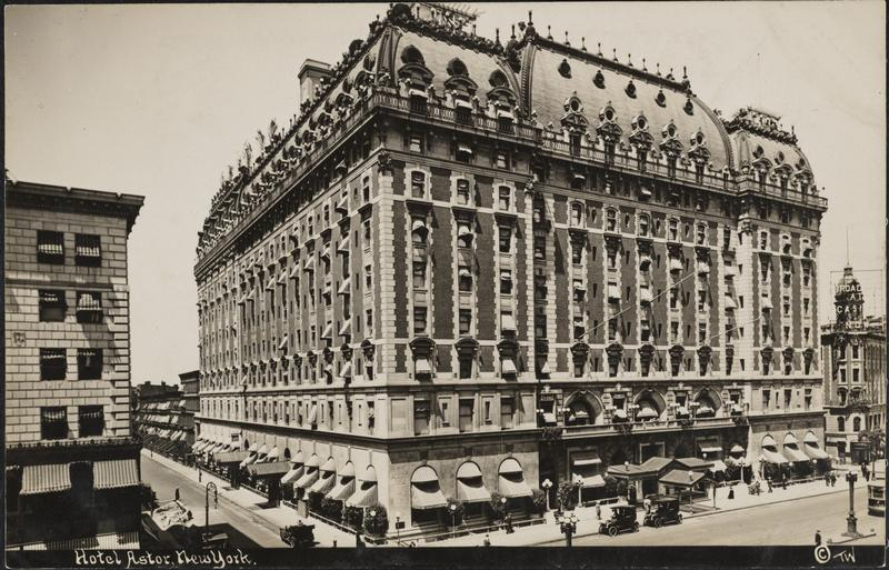 Thaddeus Wilkerson (1872-1943). Hotel Knickerbocker, New York, ca. 1910. Museum of the City of New York. F2011.33.411