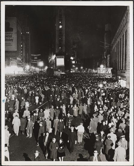 United States. Office of War Information. Times Square at night, 1944. Museum of the City of New York. 90.28.79