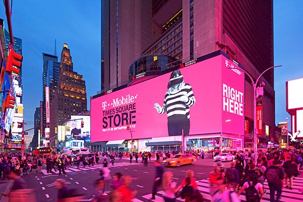 Digital Screens Billboards Times Square Nyc