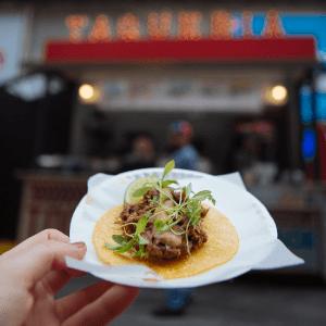 A taco from TSQ Taqueria