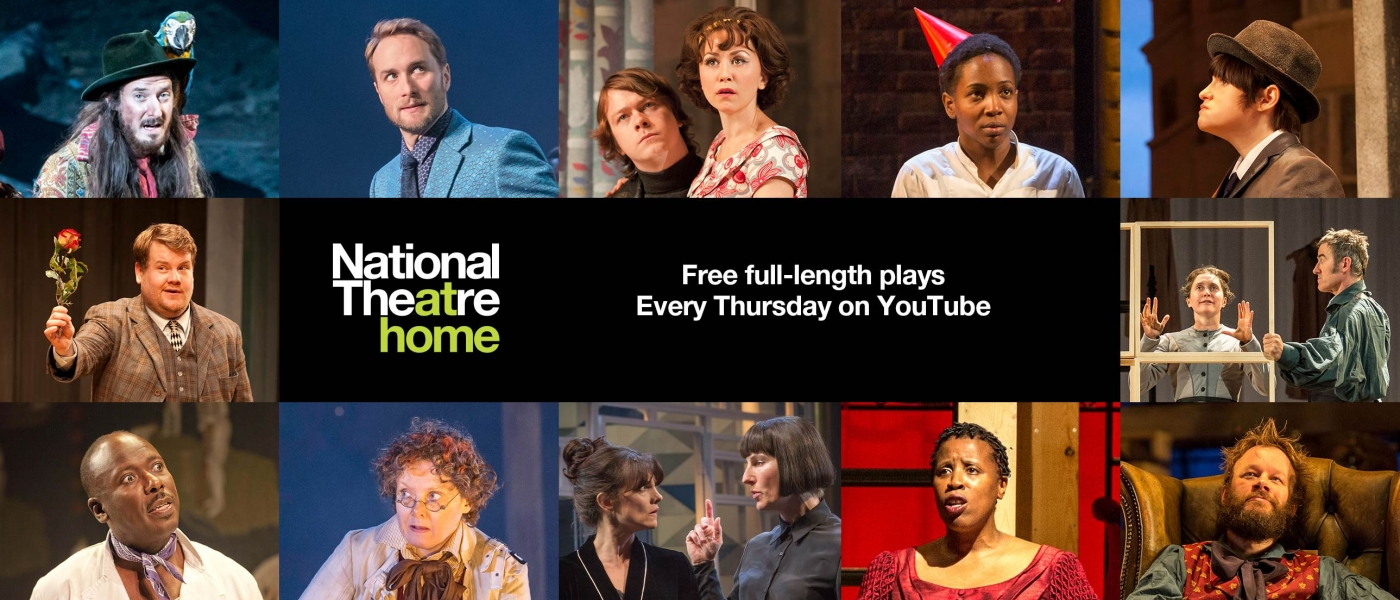 Stills from various National Theatre productions being streamed for National Theatre at Home