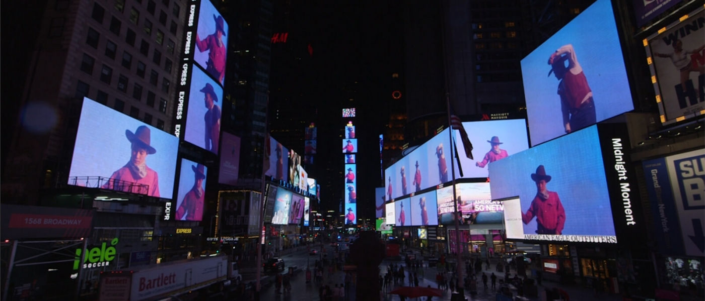 Silent Spikes on the screens of Times Square