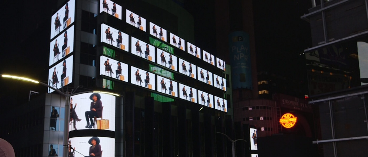 Georgia on the screens of Times Square