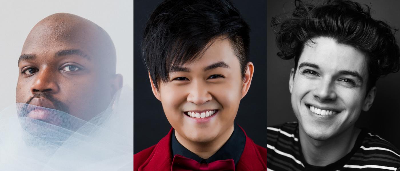 Performer headshots: Juwan Crawley, Cheeyang Ng, and Anthony Norman