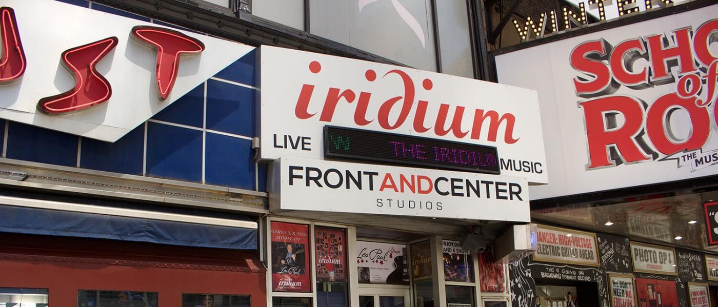 The outside of the Iridium