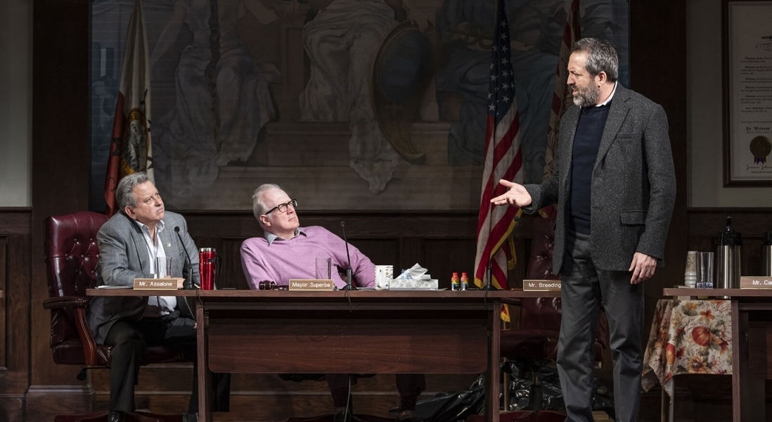 Jeff Still, Tracy Letts, and Ian Barford in Steppenwolf's Production of THE MINUTES