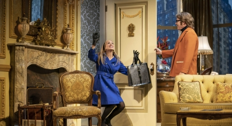 Sarah Jessica Parker and Matthew Broderick on stage in Plaza Suite